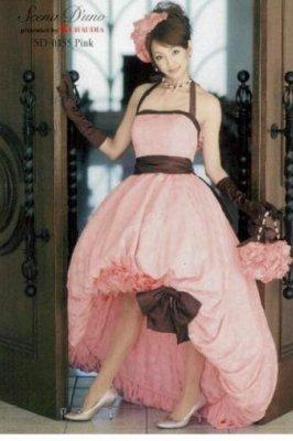 ミニ丈カラードレス:ドレス ...